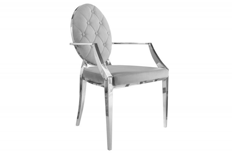 Designová židle Rococo II šedá s opěrkami - Skladem na SK - RAM