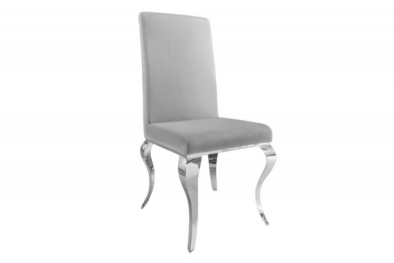 Dizajnová židle Rococo šedá