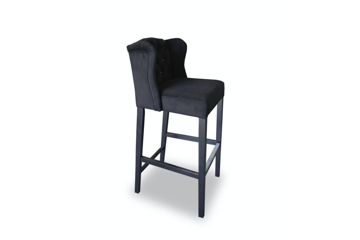 Barová židle Jeremy Chesterfield - černá barva Viktoria 100