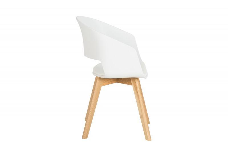 Designová židle Colby bílá