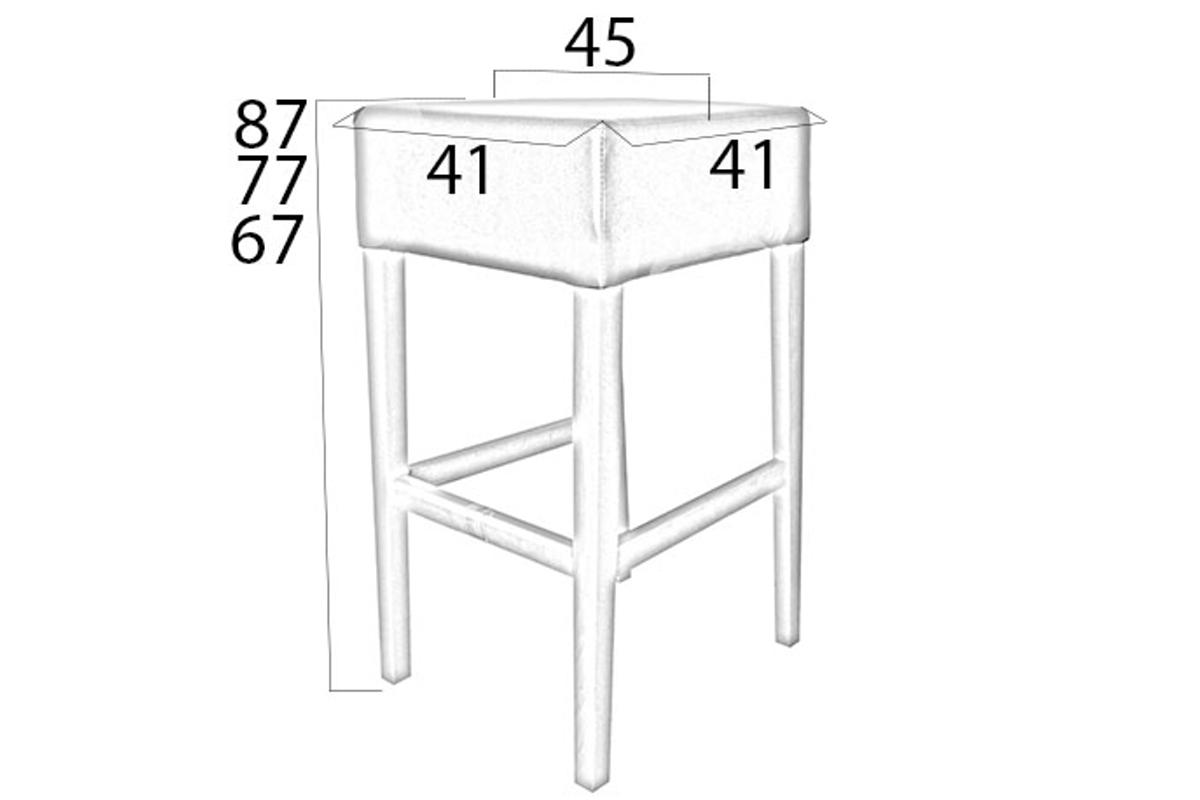Designová barová židle Chad 77 různé barvy