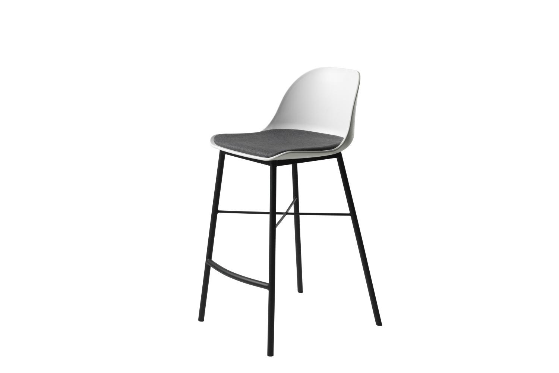 Designová barová židle Jeffery bílá