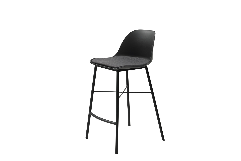 Designová barová židle Jeffery černá - Skladem na SK (RP)
