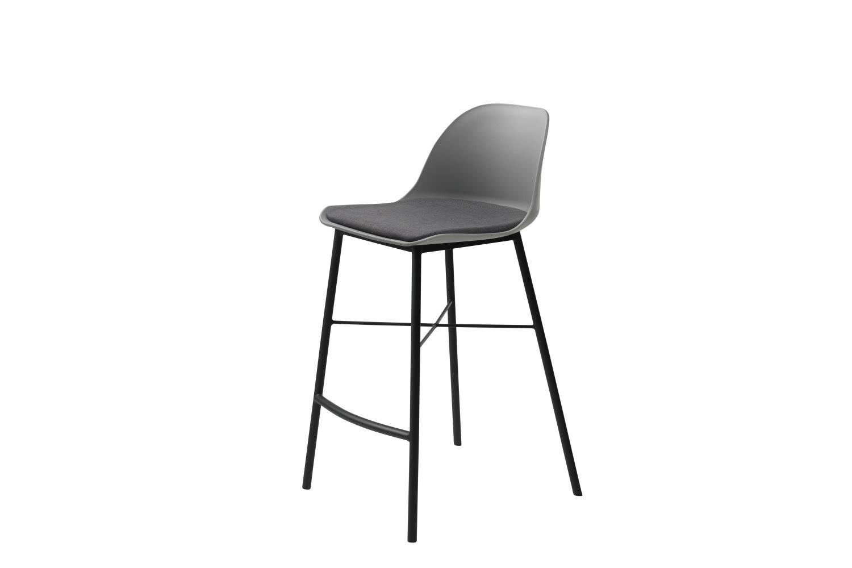 Designová barová židle Jeffery šedá