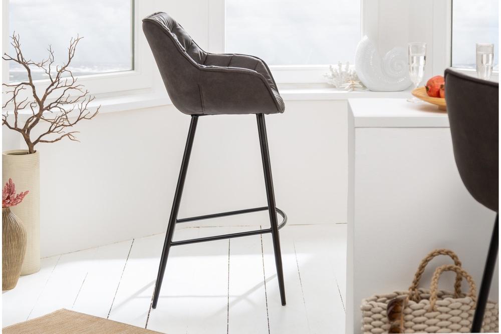 Designová barová židle Kiara antik šedá - Skladem na SK (RP)