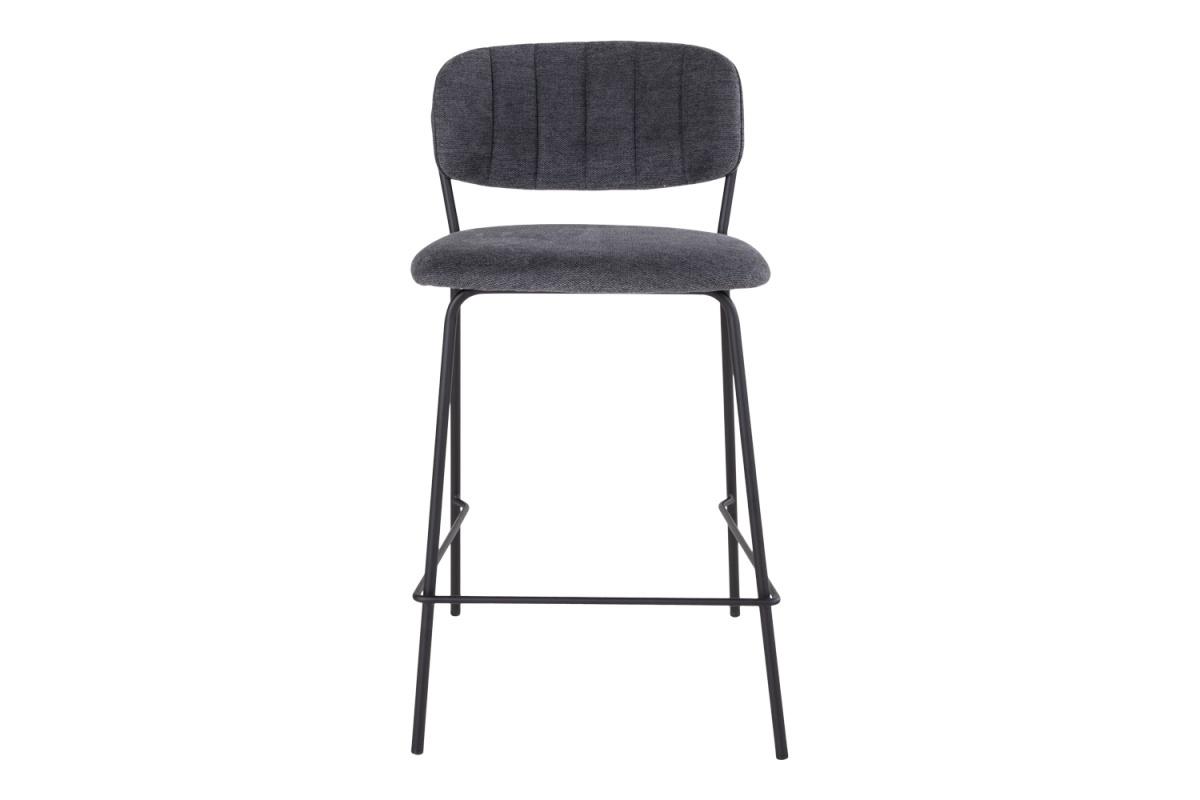 Designová barová židle Rosalie tmavě šedá