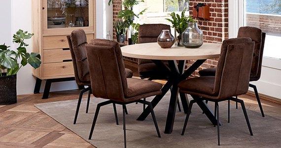 Designová jídelní židle Roll tmavě hnědá