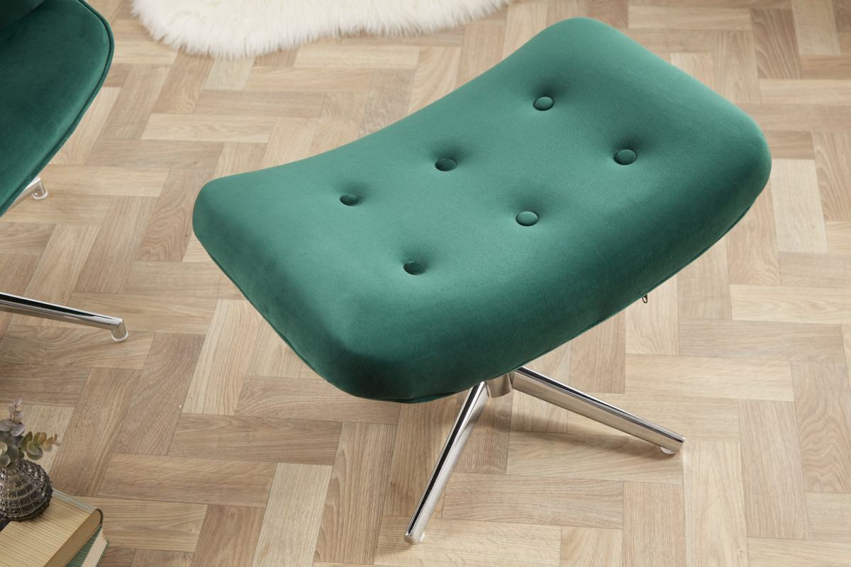 Designová otočná taburetka Joe - zelený samet