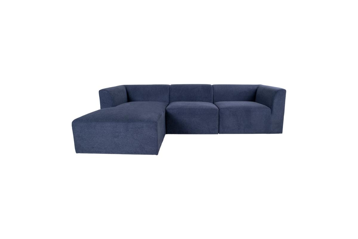 Designová rohová sedačka Anahi modrá levá
