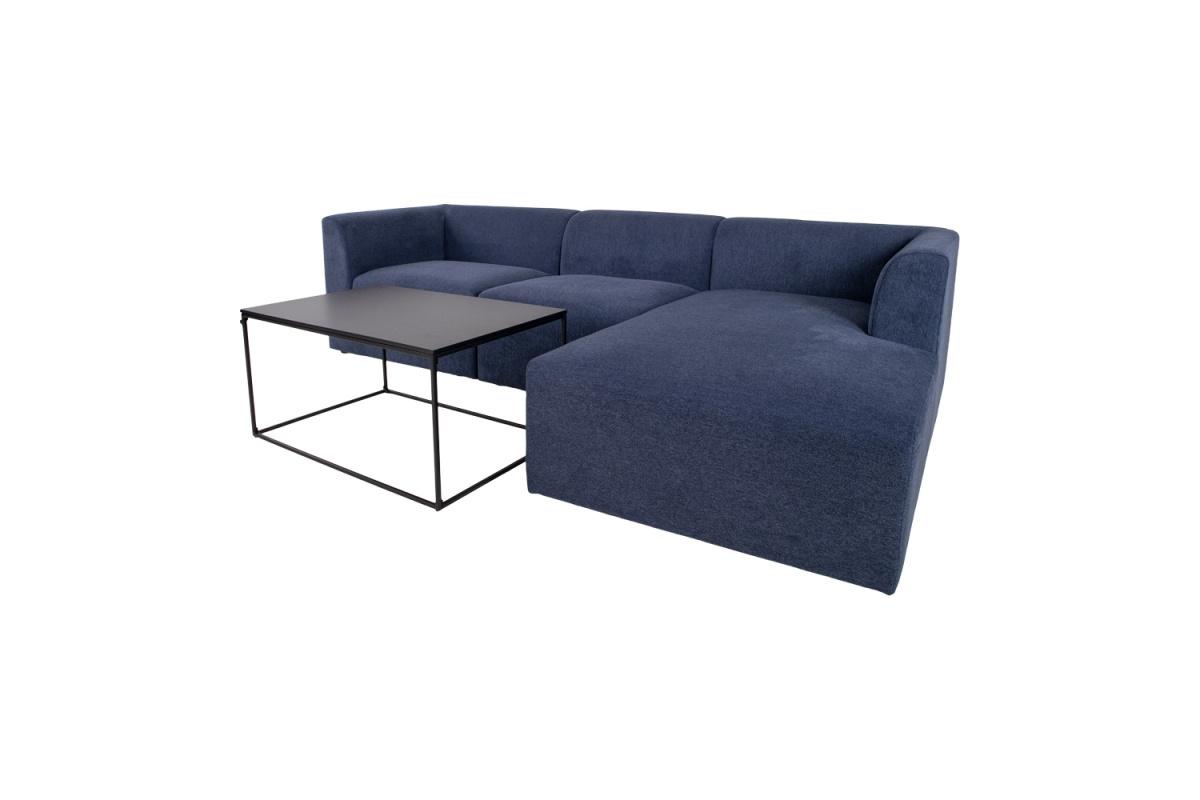 Designová rohová sedačka Anahi modrá pravá