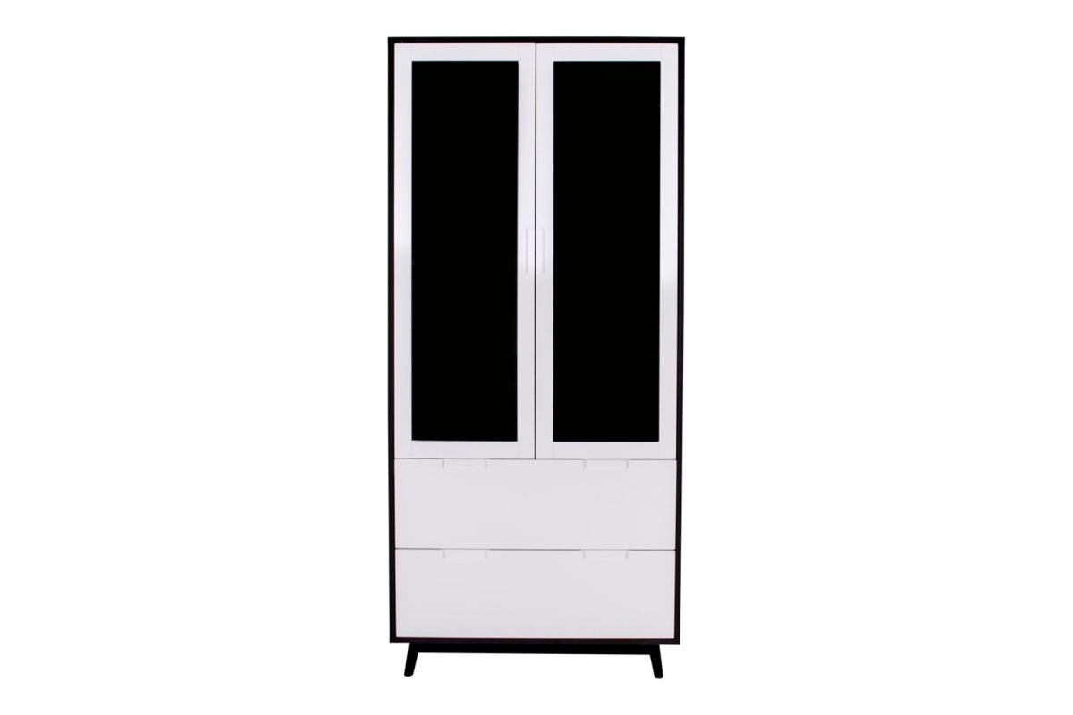 Designová vitrína Ronald černá - bílá