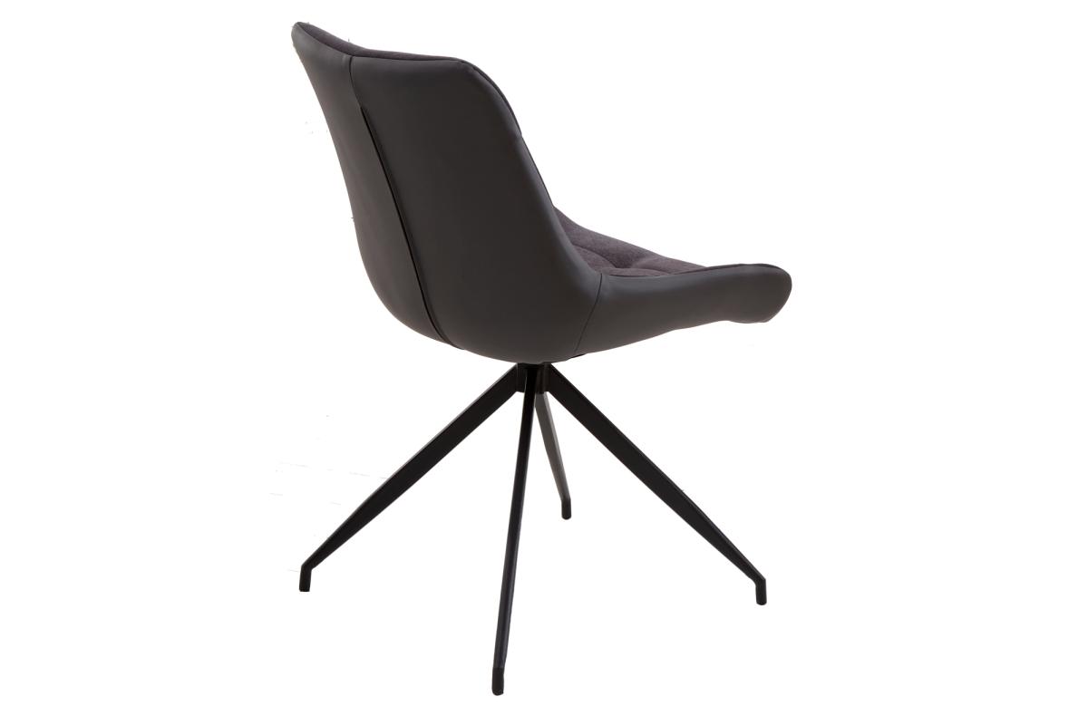 Designové židle Amiyah tmavě šedá-černá