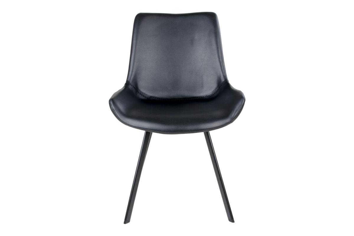 Designová židle Brinley černá koženka