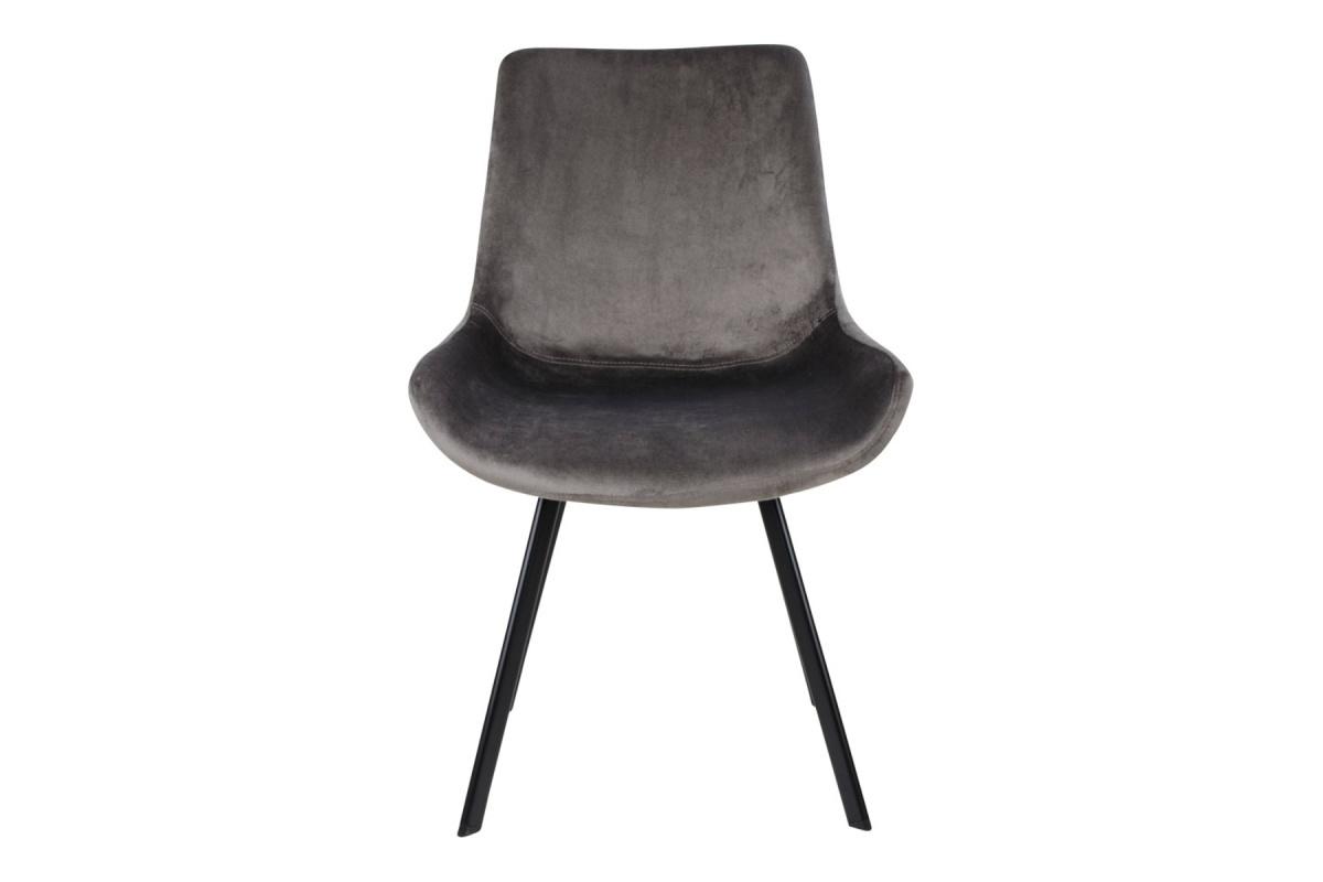 Designová židle Brinley šedý samet