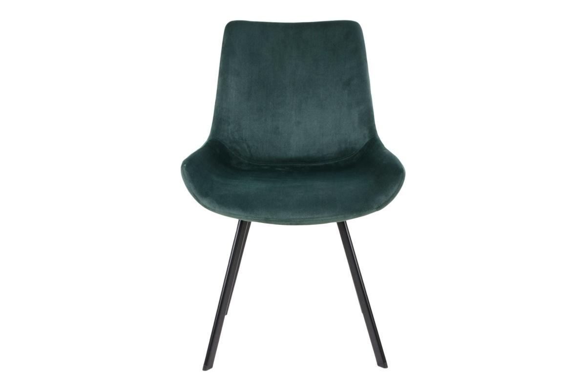 Designová židle Brinley zelený samet