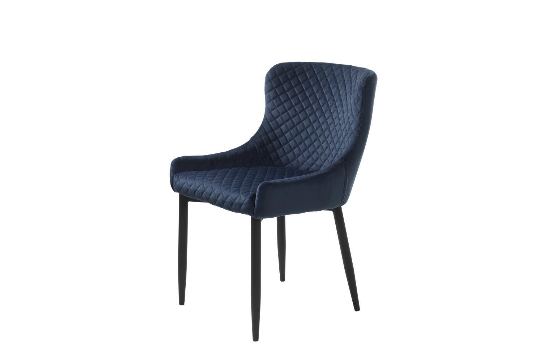 Designová židle Hallie modrý samet
