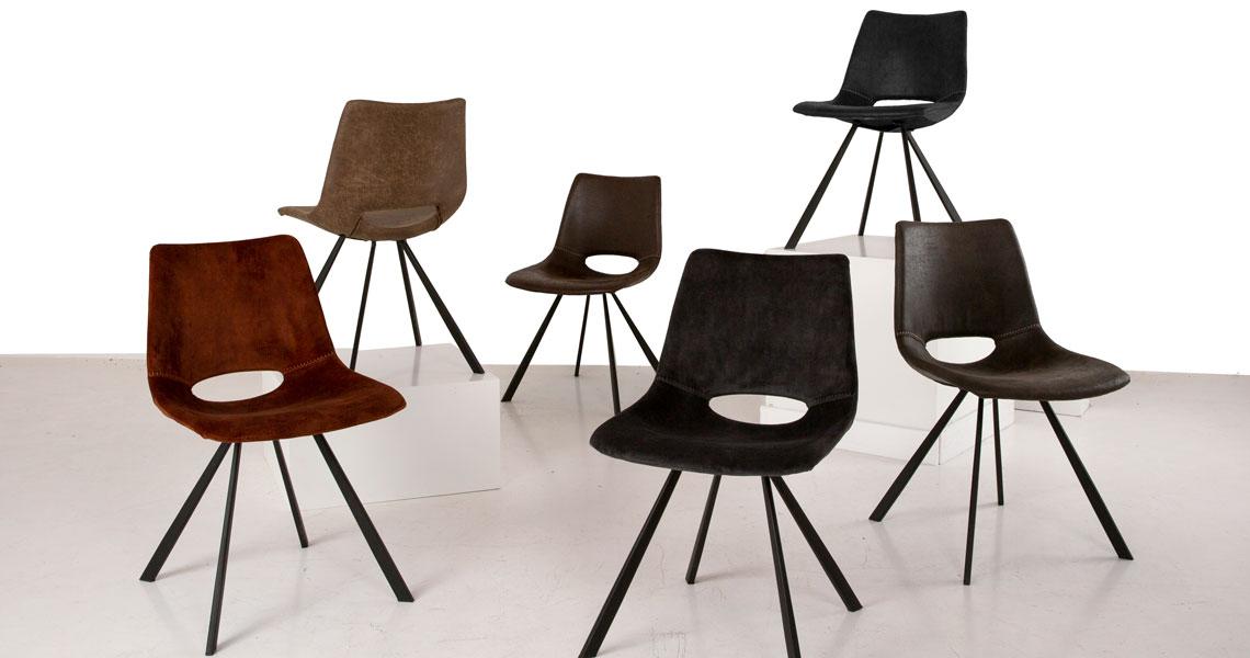 Designová židle Izabella / velur antracitová