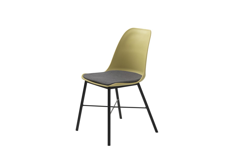 Designová židle Jeffery matná žlutá