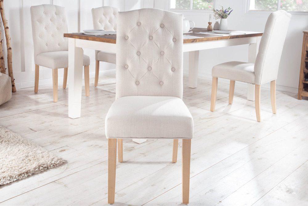 Designová židle Queen béžová