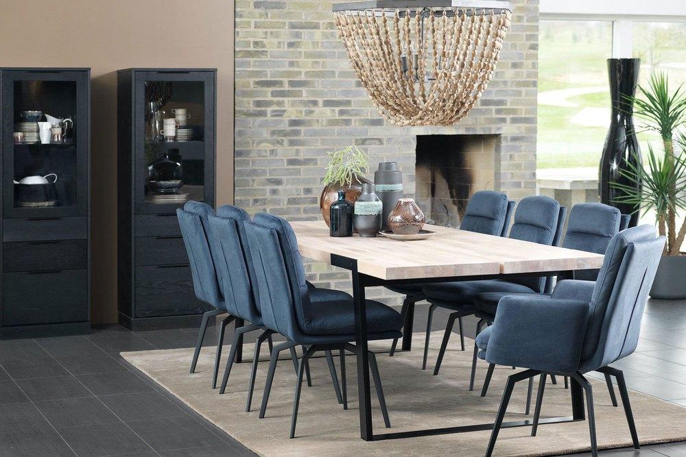 Designová židle Roll velur / modrá, modro - šedá