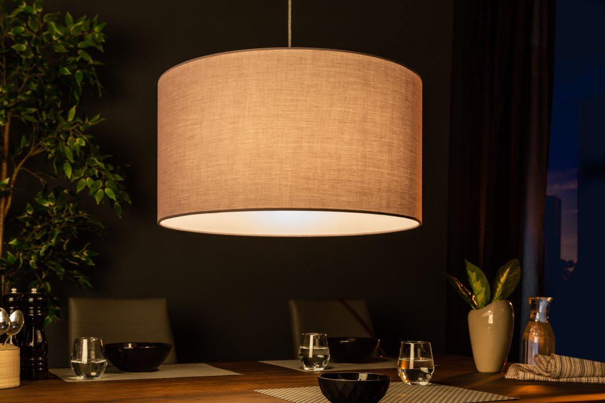 Designové závěsné světlo Nash, 50 cm, šedé - Skladem na SK