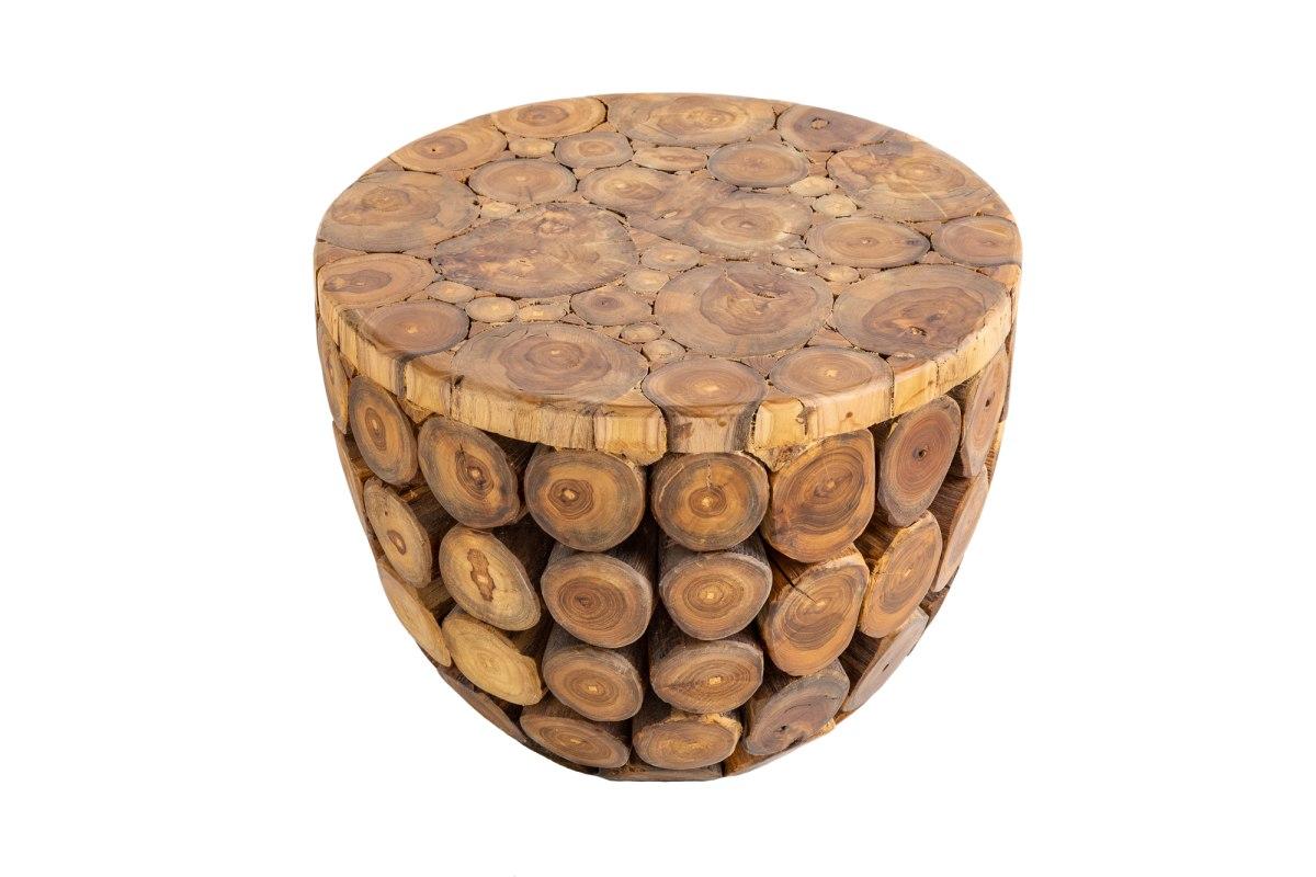 Designový konferenční stolek Desmond 50 cm teak