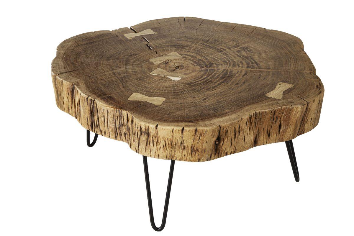 Designový konferenční stolek Island 80 cm akácie