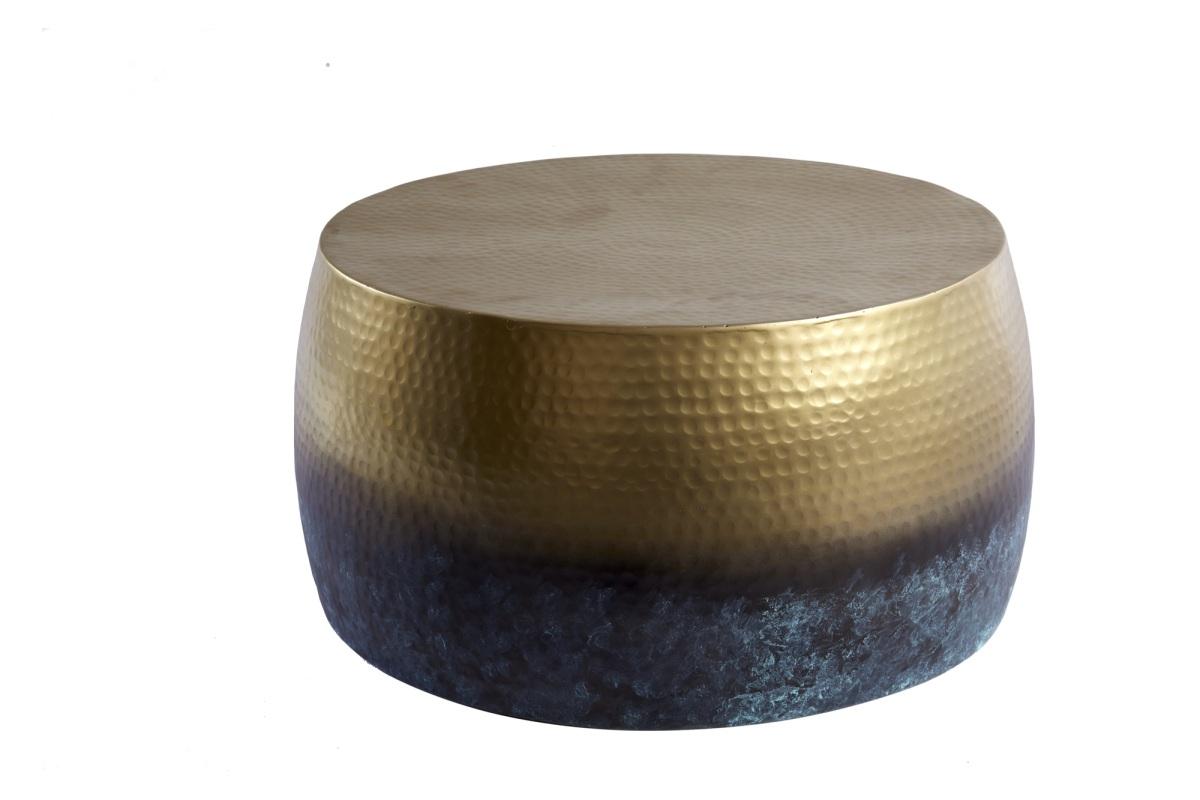 Designový konferenční stolek Malia III 60 cm zlatý žíhaný