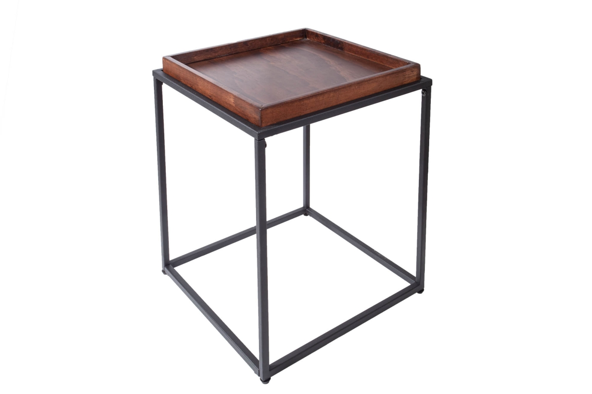Designový odkládací stolek Factor 40 cm mokka buk