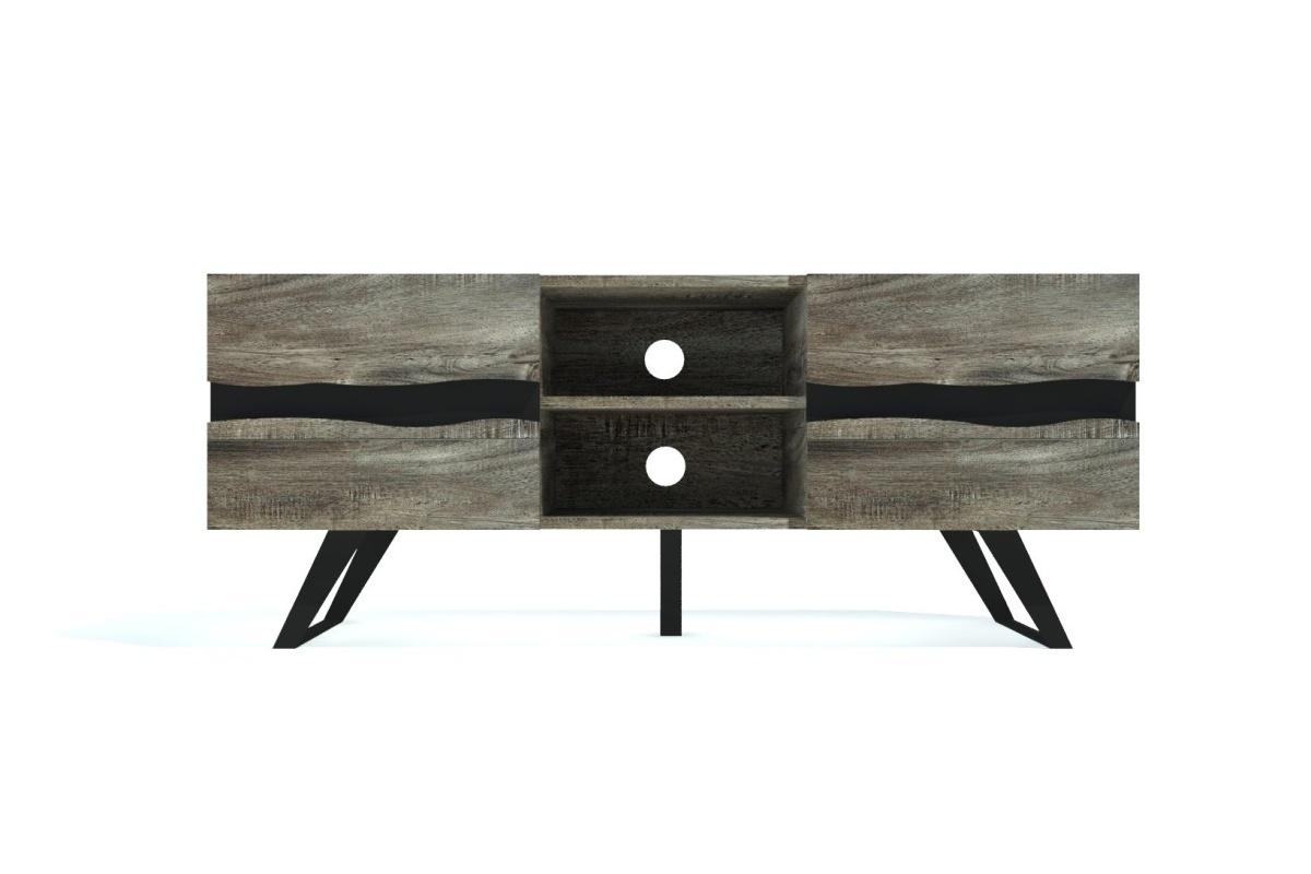Designový TV stolek Evolution Grey 160 cm akácie