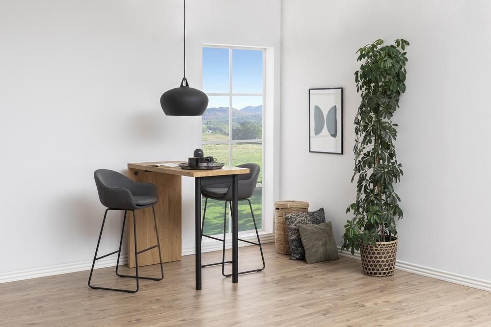 Designová barová židle Aladdin tmavě šedá