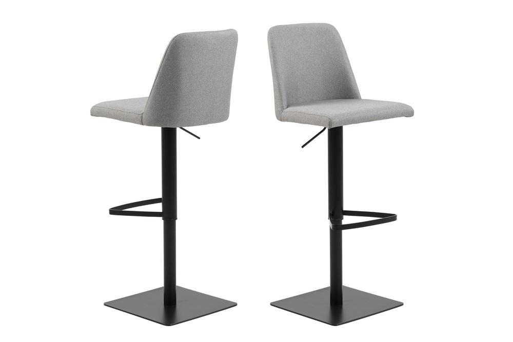 Dizajnová barová stolička Alasdair, svetlosivá