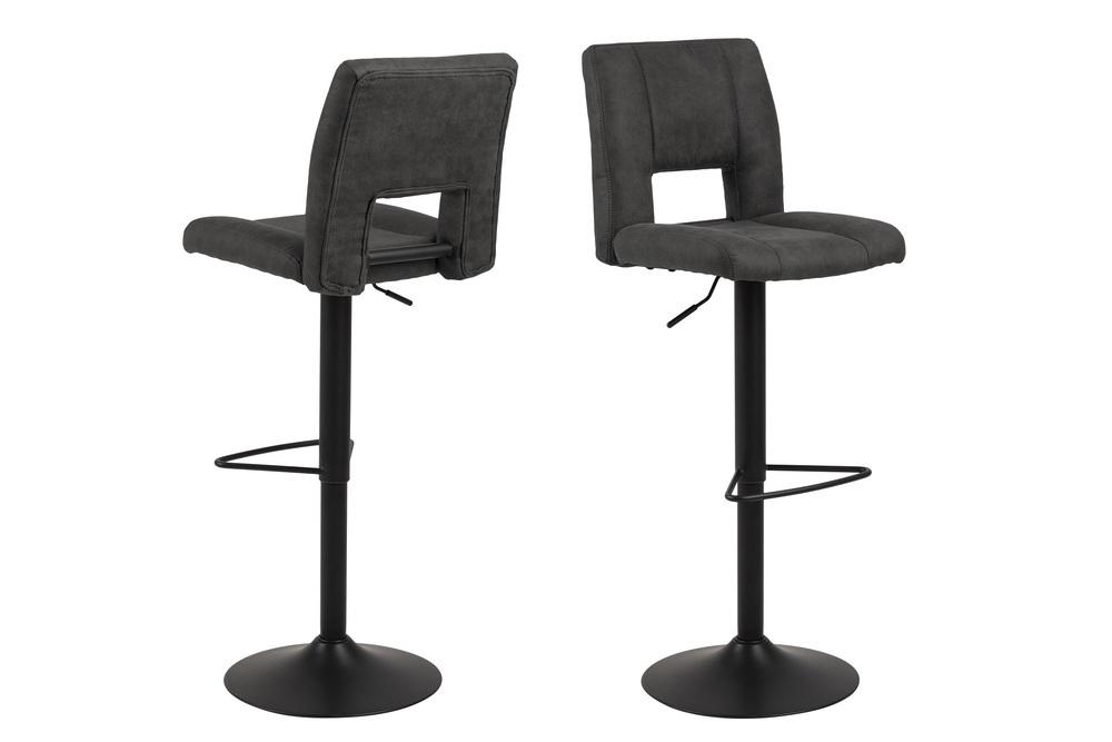 Designová barová židle Almonzo antracitová