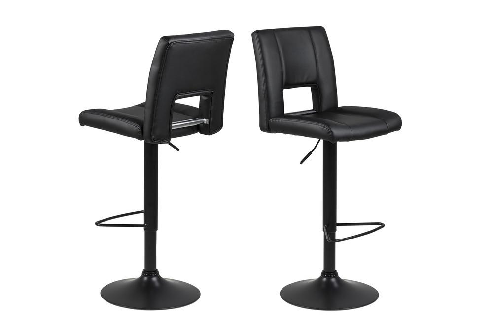Designová barová židle Almonzo černá