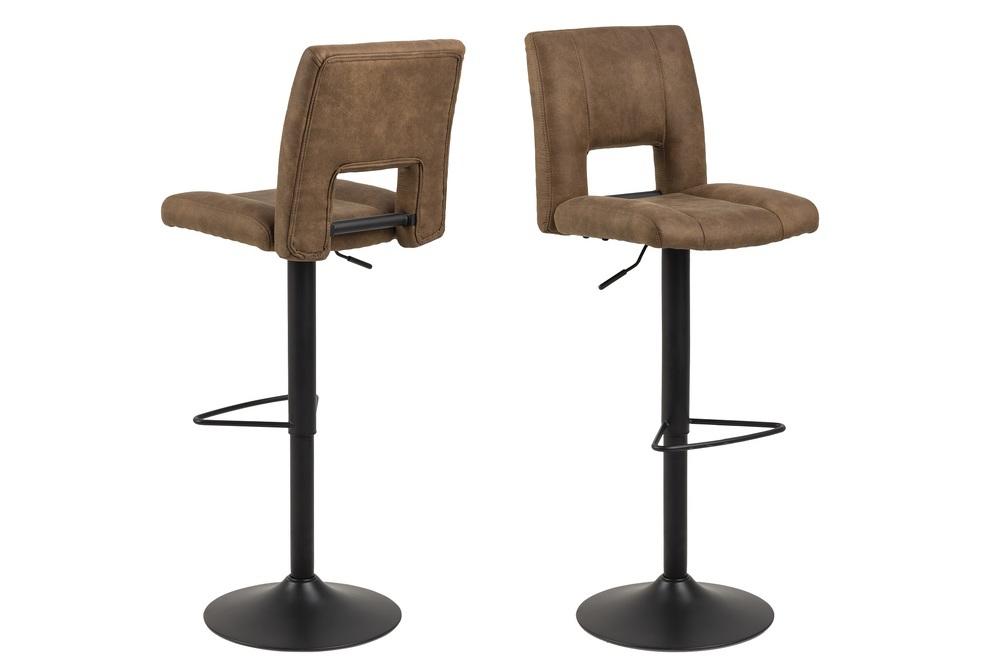 Designová barová židle Almonzo světlehnědá / černá