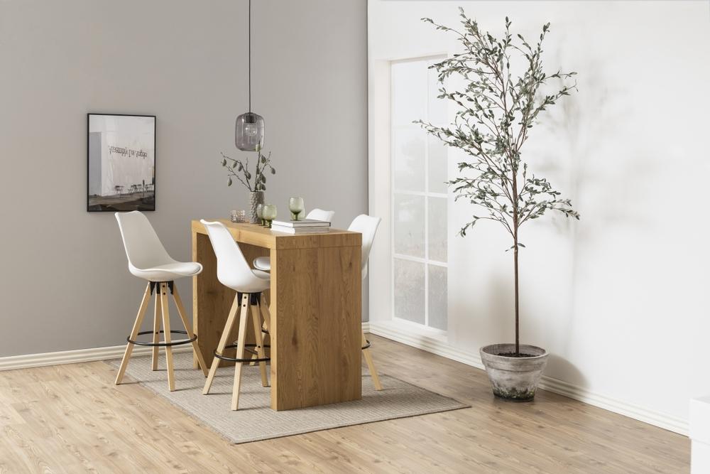 Designová barová stolička Nascha bílá-přírodní