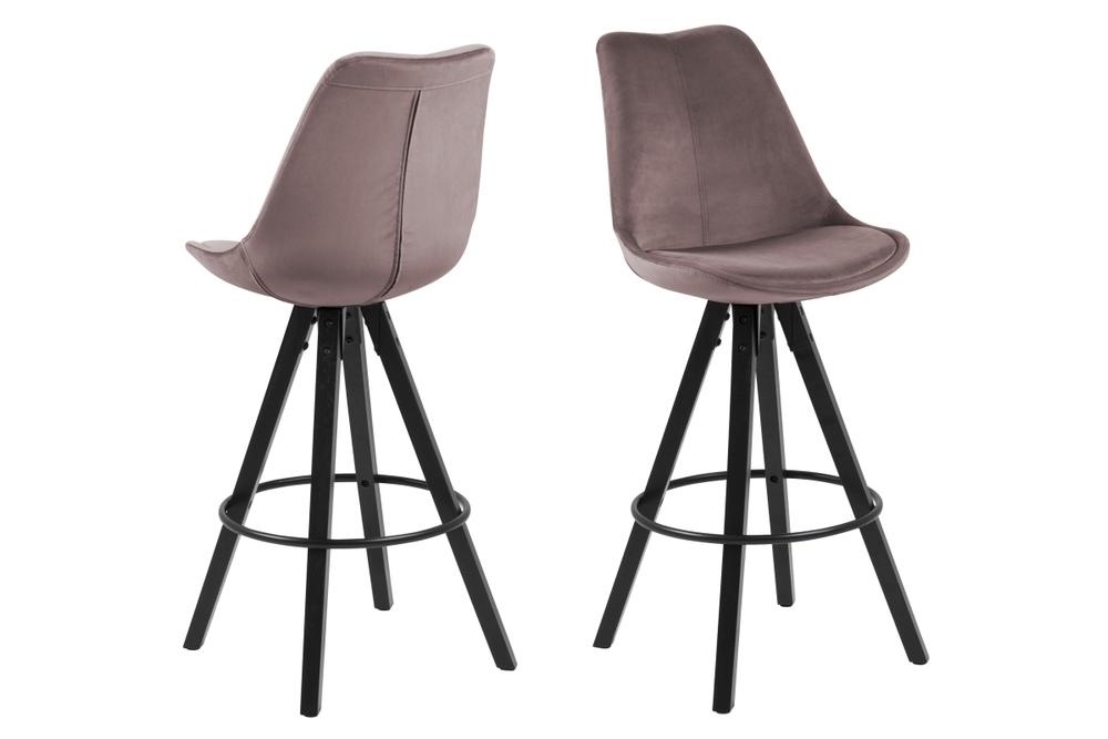 Designová barová židle Nascha světle růžová
