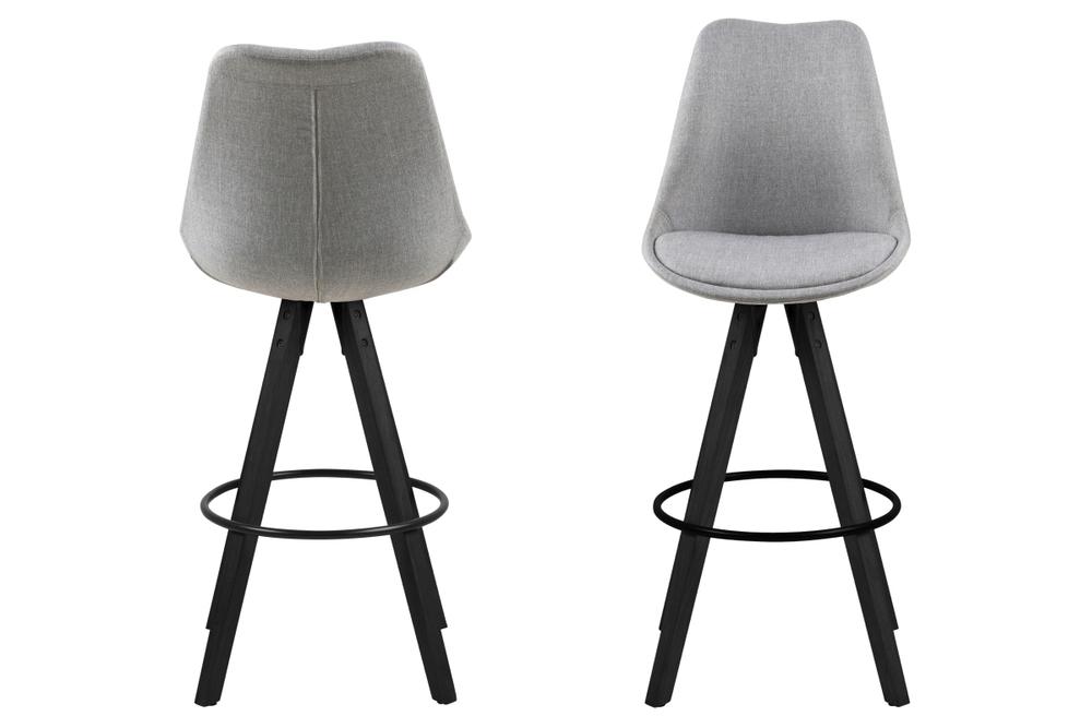 Dizajnová barová stolička Nascha, svetlo šedá-čierna