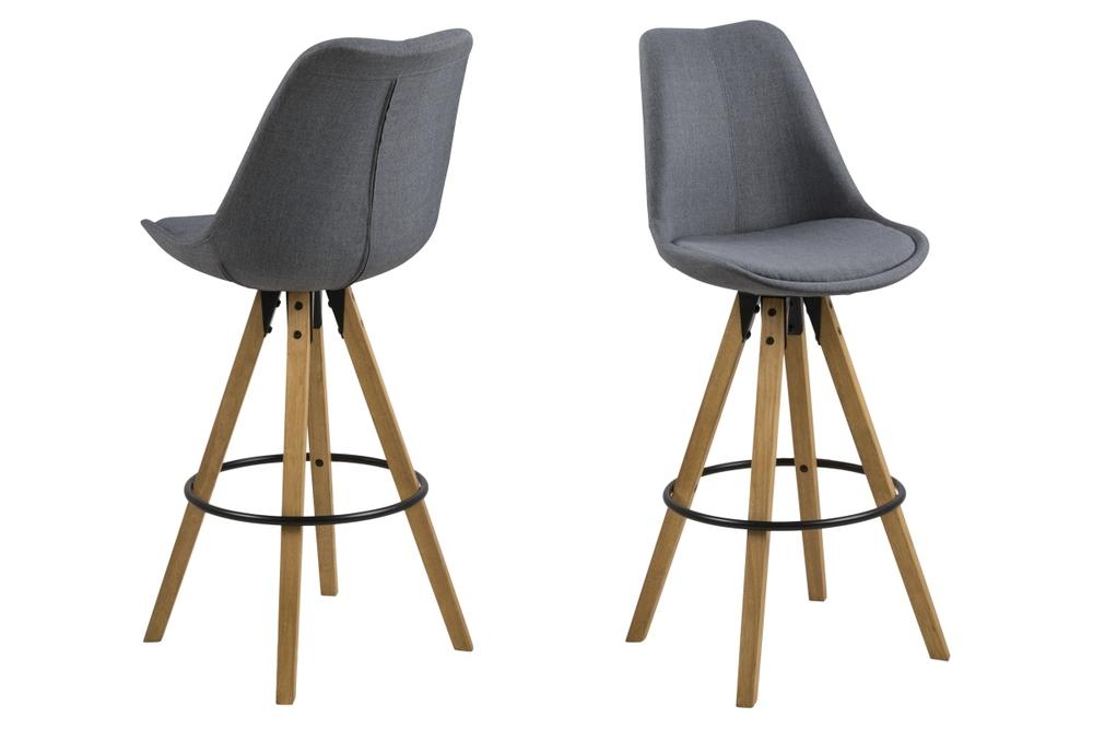 Designová barová židle Nascha tmavě šedá