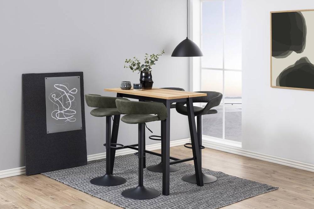 Dizajnová barová stolička Natania, antracitová a čierna