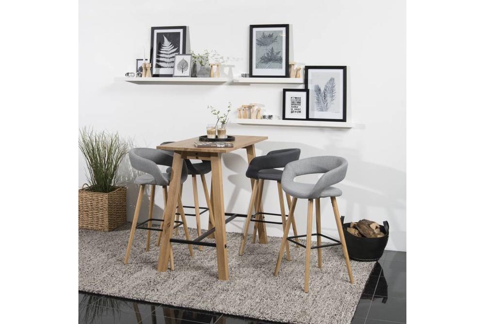 Designová barová židle Natania tmavě šedá