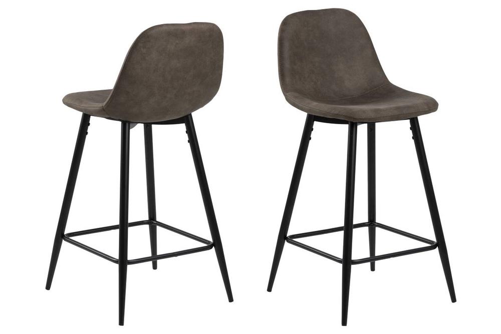 Designová barová židle Nayeli světle hnědá a černá 91 cm