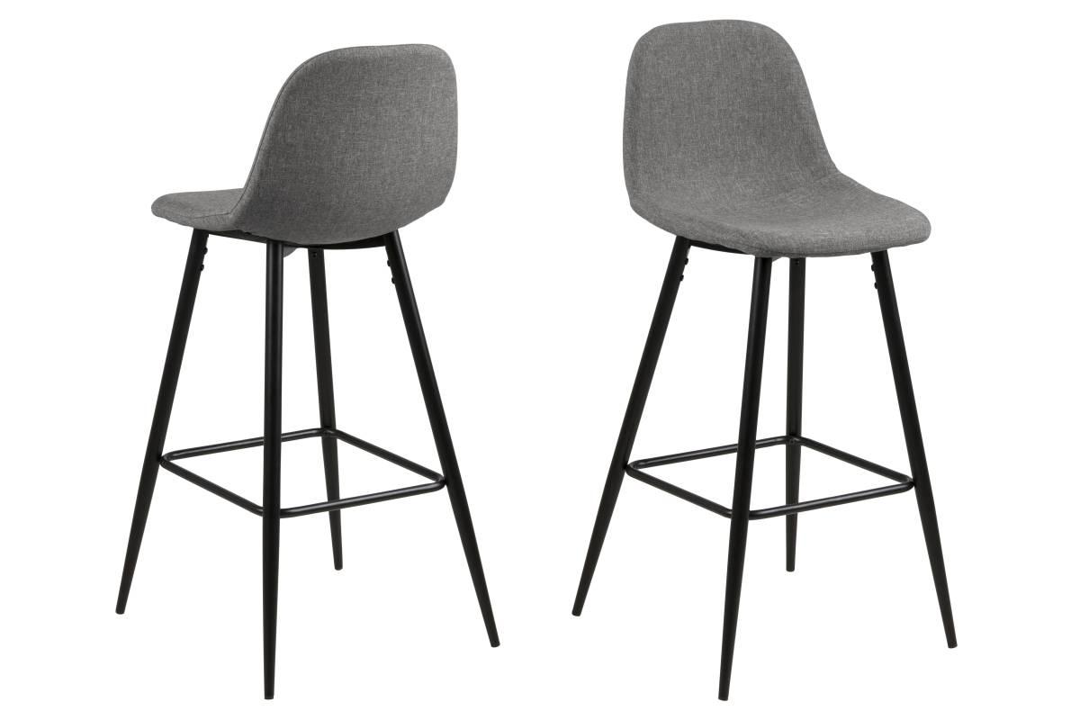 Designová barová židle Nayeli světle šedá a černá