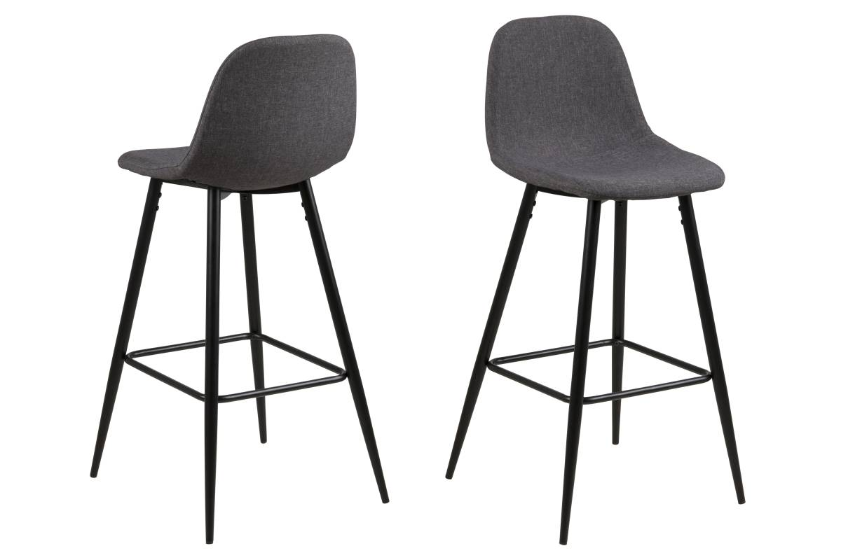Designová barová židle Nayeli šedá a černá