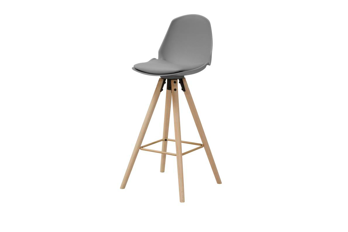 Designová barová židle Nerea šedá