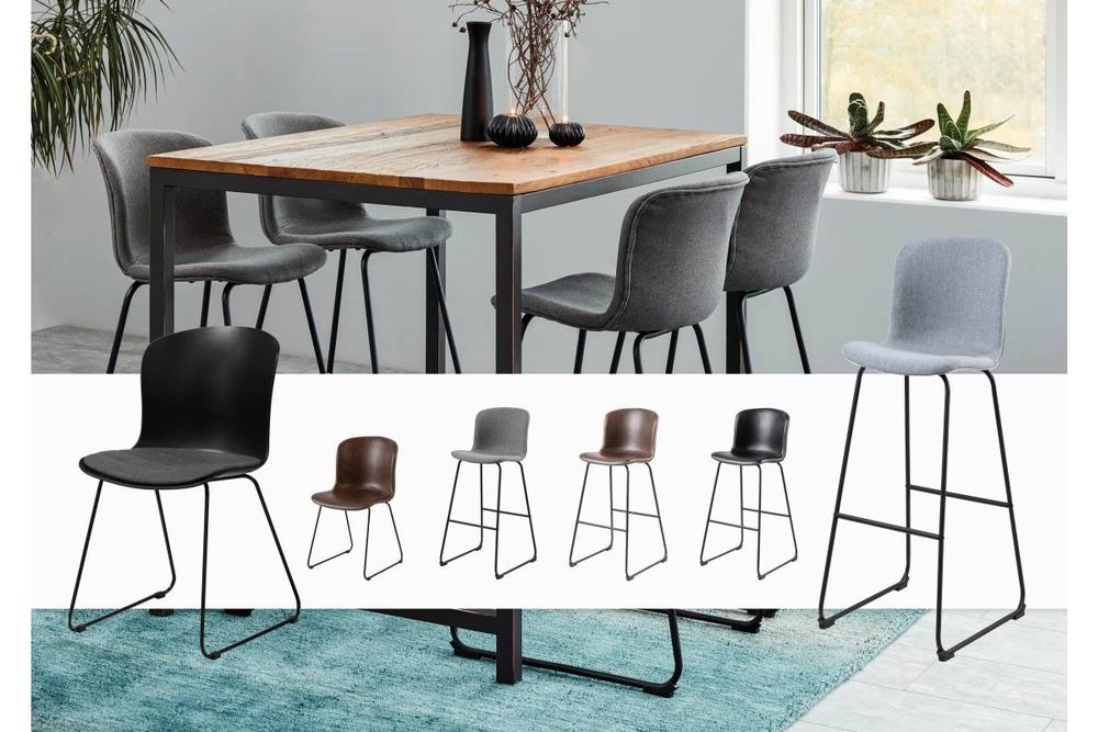 Designová barová židle Nerilla černá