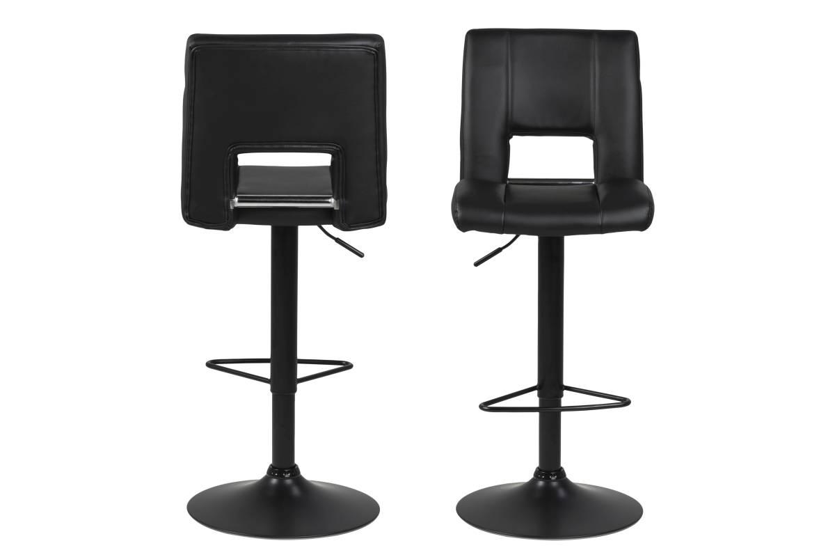 Designová barová židle Nerine černá