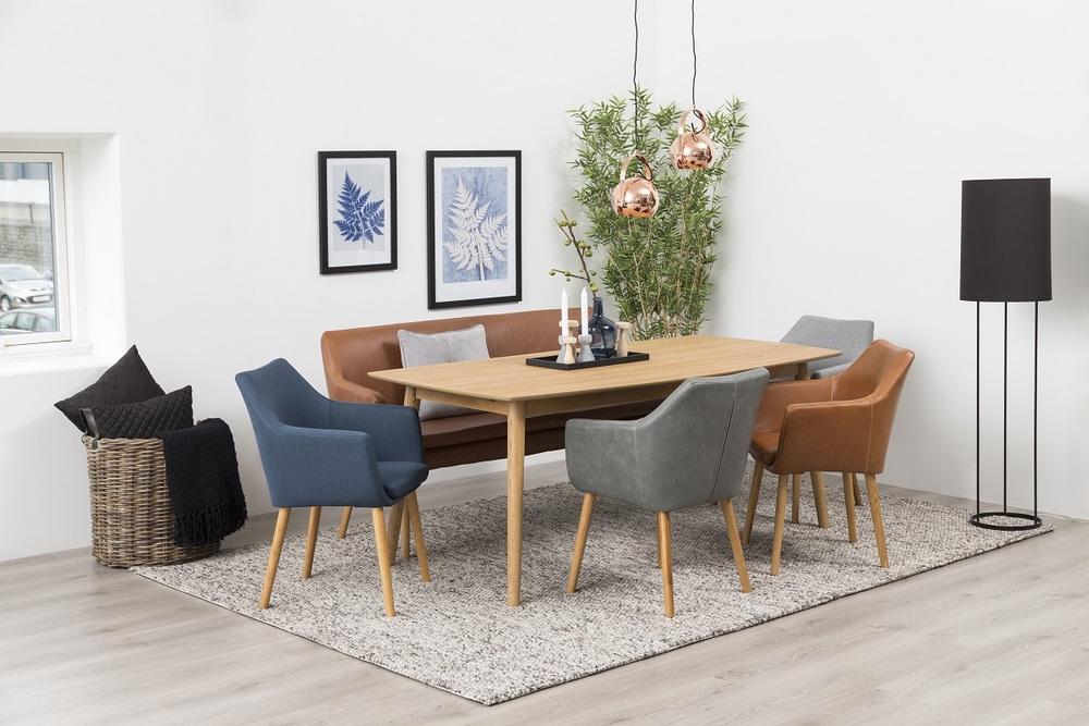 Designová jídelní lavice Almond koňaková