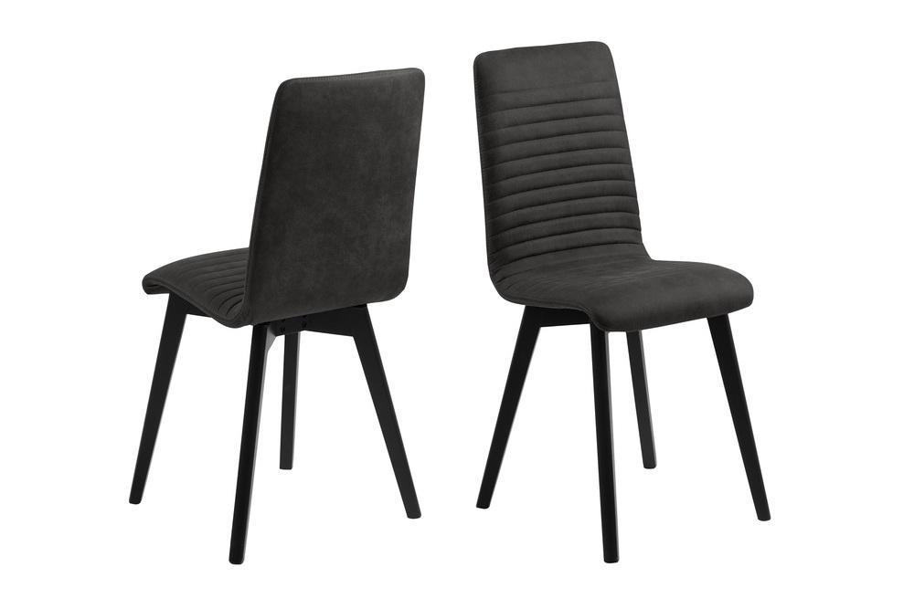 Designová jídelní židle Alano antracitová / černá