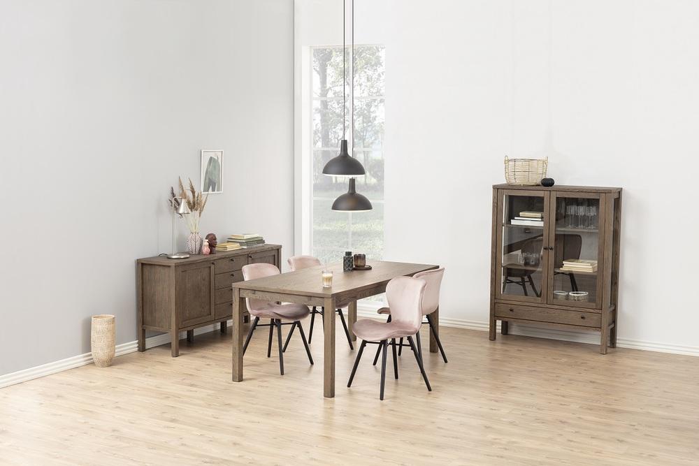 Designová jídelní židle Alejo popelavá růžová